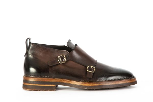 SANTONI - Shoe with laces